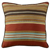 Light Tan Reversible Striped Euro Pillow - Calhoun