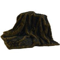 Faux Mink Brown Fur Throw