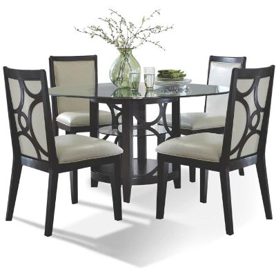 Espresso 5 Piece Dining Set   Planet Collection