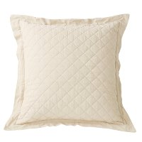 Quilted Linen Euro Sham - no filling