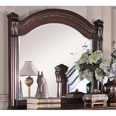 Traditional Dark Cherry Mirror - Isabella