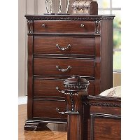 Traditional Dark Cherry Chest of Drawers - Isabella
