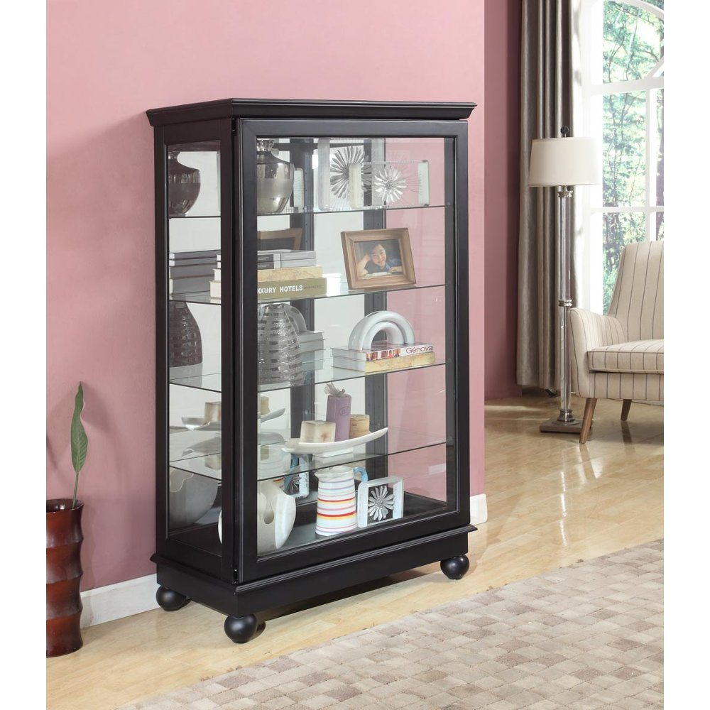 Black Mantel Height Curio | RC Willey Furniture Store