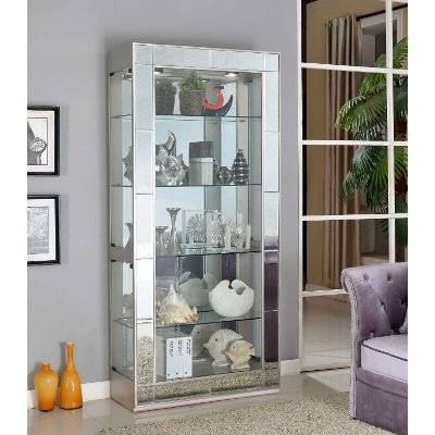 Silver Mirrored Curio | RC Willey Furniture Store