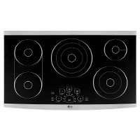LSCE365ST LG STUDIO 36 Inch Smoothtop Electric Cooktop - Black and Stainless Steel
