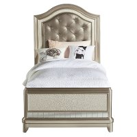 Lil' Diva Champagne Twin Bed