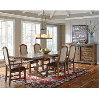 Oak 5 Piece Dining Set - American Attitude Collection