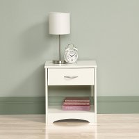 White 1-Drawer Nightstand - Beginnings