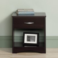 Cinnamon Cherry 1-Drawer Nightstand - Beginnings