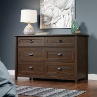 Rum Walnut 6-Drawer Dresser - County Line