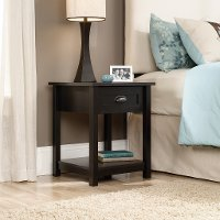 Black 1-Drawer Nightstand - County Line