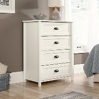 Soft White 4-Drawer Chest - County Line