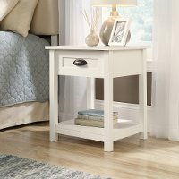 Soft White 1-Drawer Nightstand - County Line