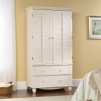 Antiqued White Armoire - Harbor View