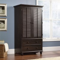 Antiqued Brown Armoire - Harbor View