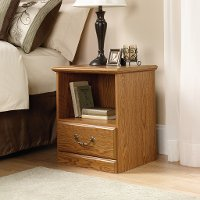 Oak 1-Drawer Nightstand - Orchard Hills