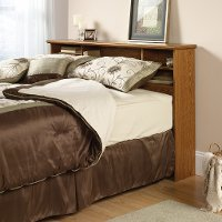 Oak Full-Queen Bookcase Headboard - Orchard Hills