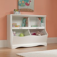 White Twin Footboard/Bookcase - Pogo