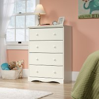 White 4-Drawer Chest - Pogo