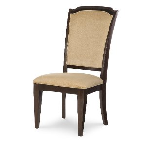 Clearance Mahogany Brown Upholstered Dining Room Chair