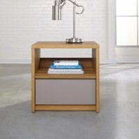 Pale Oak Nightstand - Soft Modern
