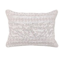 Natural and White 14x20 Inch Throw Pillow