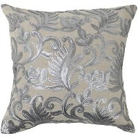 Thalia Silver 18 Inch Throw Pillow