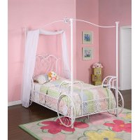 Carriage Canopy Twin Size Bed - Princess