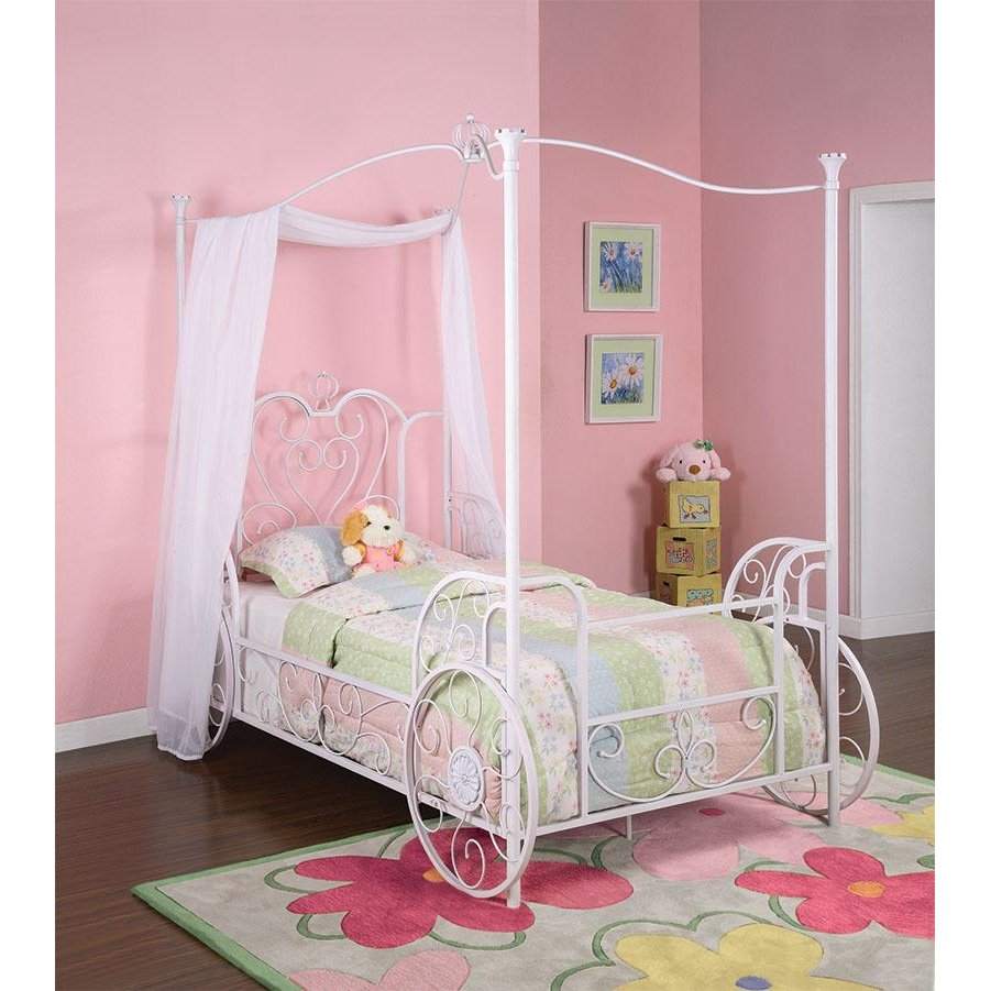 Princess Emily Carriage Canopy Twin Size Bed | RC Willey Furniture Store