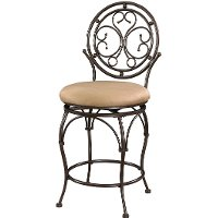 Scroll Circle Back Counter Stool - Big & Tall