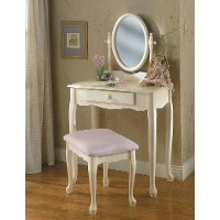 White Vanity Table With Mirror And Bench. Off White Vanity Mirror  Bench Set Pure RC Willey Furniture Store