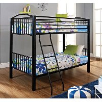 Heavy Metal Black Twin-over-Twin Bunk Bed