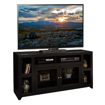 65 Inch Mocha Brown TV Stand - Skyline