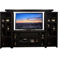Mocha Black 4 Piece Sturdy Entertainment Center - Skyline