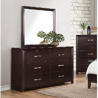 Contemporary Espresso Brown Dresser - Edina Collection