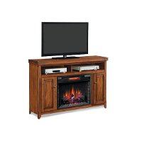 58 Inch Infrared Cherry Brown Fireplace and TV Stand