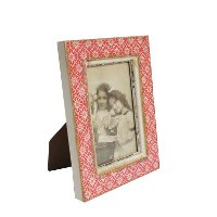 Pink Wood Photo Frame