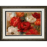 Jardin De Corail Multi Color Floral Framed Wall Art