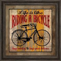 Life Is Like Riding A Bicycle Framed Wall Art