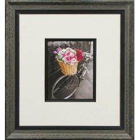 Basket of Flowers and Bicycle I Framed Wall Art