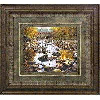 Ridge Over Rocky Waters Framed Wall Art