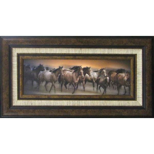 Oncoming Storm Running Horses Framed Wall Art | RC Willey Furniture ...