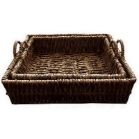 20 Inch Water Hyacinth Tray with Handles