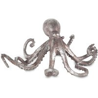 Small Aged Pewter Octopus
