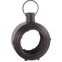 21 Inch Metal and Glass Porthole Lantern