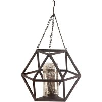 Hanging Metal Pendant with Candle Holder