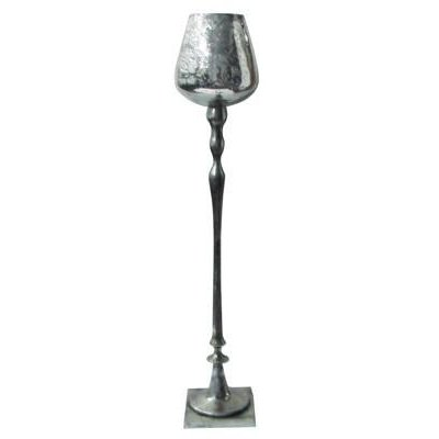 32 Inch Aluminum Goblet Style Candle Holder