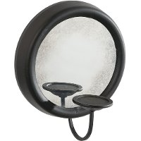 9 Inch Candle Holder With Round Mirror