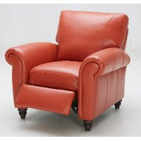 Baxter 40 Quot Terracotta Leather Match Recliner Rc Willey