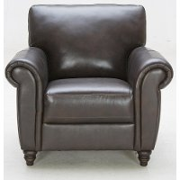Baxter 34 Quot Brown Leather Match Chair Rc Willey Furniture